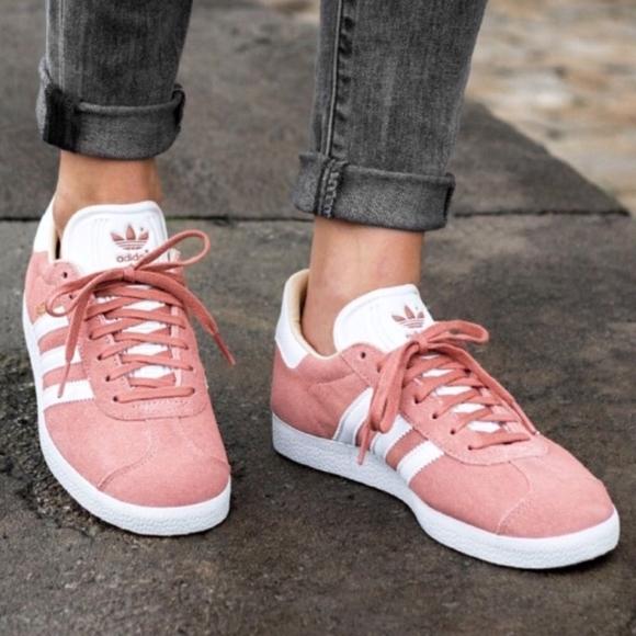 Adidas Originals Gazelle Pink White Gold